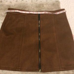 Faux suede brown super comfy mini